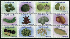 Suriname Fruits Stamps 2020 MNH Fruit Ambarella Pomelo Plants Nature 12v Block