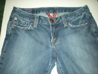 WOMEN'S LUCKY BRAND BLUE LOLA BOOT JEANS ~ DISTRESSED SIZE 6 / 28 COTTON SPANDEX