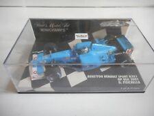 Minichamps F1 Benetton Renault B201 GP USA '01 Fisichella in Blue on 1:43 in Box
