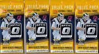 (4) 2018 Donruss OPTIC Football NFL Trading Cards 12c FAT PACK LOT=GreenVelocity