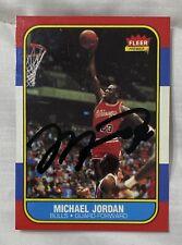 Michael Jordan Signed Autographed Rc Reprint Certified 1986 Fleer