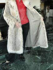 FABULOUS Pre-Owned Full-Length Canadian Lynx Coat with Belly Fur Trim  Size 8-10