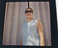 "COLOR PHOTO SLIDE 2 3/4 x 2 3/4"" Woman In Sunglasses"