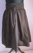 VTG 90s Ladies MERONA Brown Lined Cotton Flippy Short Skirt Size Small (H7)