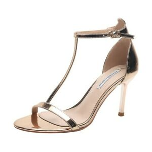 Women's T-strap Sandals High Heels Open Toe Ankle Buckle Casual Shoes US 4.5-8