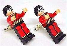 Handmade, LEGO® Marvel Plastic Man Cufflinks, W/Gift Box!