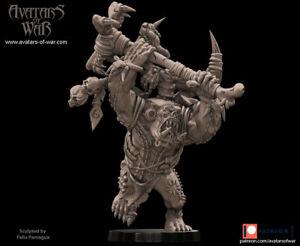 Avatars Of War 3D Printed miniature BigBoss orc 9