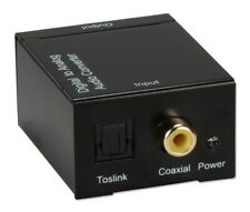 QVS Digital Coaxial Optical Toslink Audio to Stereo Analog RCA Audio Converter