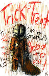 """Trick 'r' Treat  """"Give Me Something Good to Eat """" 11 x 17 High Quality Poster"""