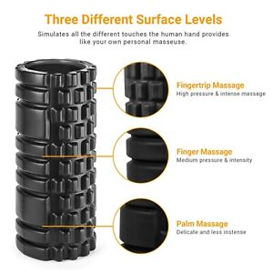 Foam Fitness Roller for Deep Tissue Massage Grid Muscle Trigger Point Muscles UK