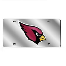 Arizona Cardinals Mirrored Laser Cut License Plate Laser Tag