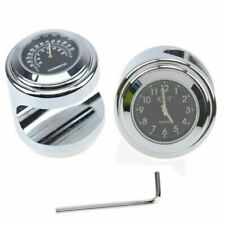 "7/8"" 1"" Motorcycle Handlebar Watch Clock & Thermometer Temp for Kawasaki Suzuki"
