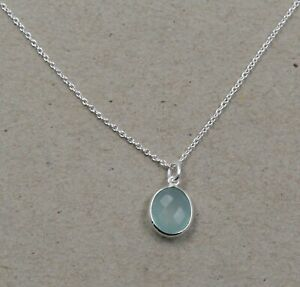 Chalcedony Necklace Handmade Gift For Mother Day Solid 925 Sterling Silver