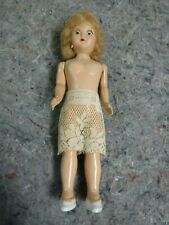Small 7 Inch Vintage Plastic Body Doll With Eyes Open