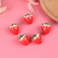5Pcs 1:12 Dollhouse miniature strawberry doll house kitchen accessories  R8Y