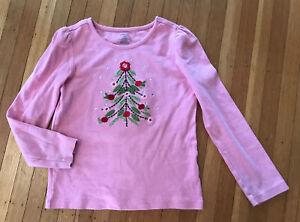 GYMBOREE COZY OWL GIRLS LS Pink Shirt Size:7 EUC