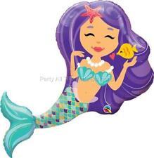 "20"" NEWEST PURPLE Mermaid Balloon Birthday Party Ocean BEACH Pool SEA"
