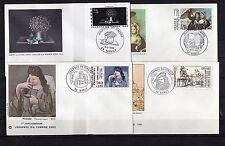 FRANCE lot de 4 enveloppes 1er jour d'émission NANCY journée du timbre 1980/1983