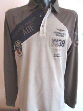100% Aeronautica Militare Herren Polo- Shirt, Langarm; Gr.: XXL