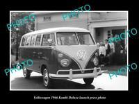 OLD LARGE HISTORIC PHOTO OF 1966 VOLKSWAGEN KOMBI DELUXE LAUNCH PRESS PHOTO