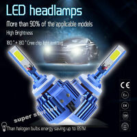 2x H1 H4 H7 H11 9005 70W 8000LM CREE Car COB LED Headlight Kit Beam Bulbs 6000K