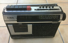 Old Aiwa portable radio cassette player from 1970s / 80s