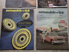 4 x Revues AUTOMOBILE CLUB Année 1957 Nr 27 28 29 30