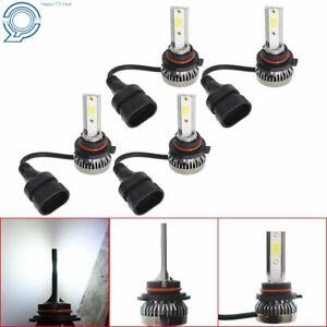 4 Bulbs 9005+9006 3200W 520000LM Combo LED Headlight High/Low Beam 6000K White