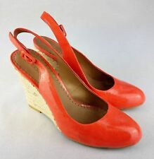 Moda in Pelle Womens Wedges Leather Red Size 7