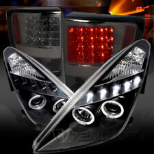 For 00-05 Celica Black LED Halo Projector Headlights+Smoke LED Tail Lamps