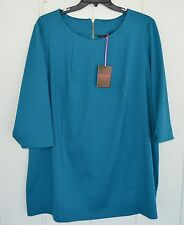 NWT SIMPLY BE UK 24 EU 52 US 20 Teal Swing Mini Dress Tunic