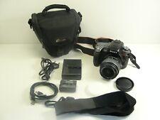 Sony Alpha DSLR-A550L 14.2MP Digitalkamera Schwarz mit 18-55mm Objektiv Digicam