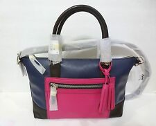 NWT COACH Legacy Leather Molly Satchel Bag 21134 ColorBlock Navy Fushsia $398