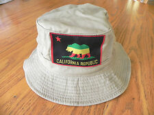 CALIFORNIA REPUBLIC KHAKI VINTAGE BUCKET HAT CAP SIZE: ADULT S/M  MANY STYLES