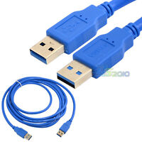 1.5Ft 6FT USB 3.0 A Male To Male Plug Extension 5Gbps Cords Cable Converters