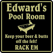 Personalized Pool Room Billiards Bar Beer Pub Gift Sign #1 Custom USA Made