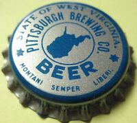 TWO Duquesne Pilsener Beer Pittsburgh Pennsylvania Crowns Lift Off Caps Baseball