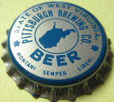 WEST VIRGINIA TAX Blue unused Beer CROWN Bottle CAP BEER Pittsburgh PENNSYLVANIA