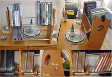 Lotto 2 Mobiletti in legno porta cd /dvd /vhs-forma e colore elegante