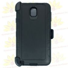 black for Samsung Galaxy Note3 new soft rugged defender cover case&belt clip