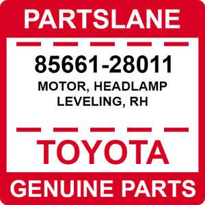 85661-28011 Toyota OEM Genuine MOTOR, HEADLAMP LEVELING, RH