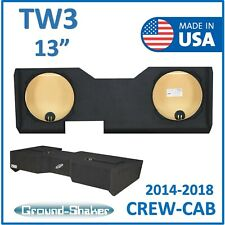 "Chevy Silverado Crew Cab Sub Box For JL AUDIO TW3 13"" Dual Subwoofer Enclosure"