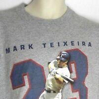 LEE SPORT Mark Teixeira 23 Texas Rangers MLBPA Men's Charcoal T-Shirt Size XL