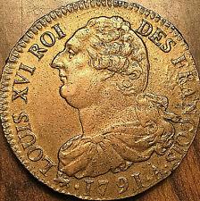 1791 A 2 SOLS LOUIS XVI ROI DES FRANÇAIS 2 SOLS COIN - Rarement si belle !