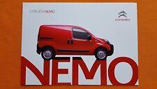 Citroen Nemo Van X LX Enterprise paper brochure catalogue November 2015 MINT
