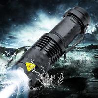 Elfeland 10000LM T6 Lampe De Poche LED ZOOMABLE Puissante 3 Modes 14500/AA Noir