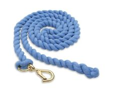 Shires Plain Cotton Headcollar Lead Rope Wtih Walsall Clip - 10 Colours White