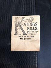 L5-3 Ephemera 1926 Small Advert Keating's Kills Bugs Flies Insect Powder