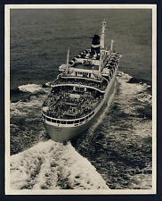 SS STATENDAM * Large Vintage 1960s Photo Taken from a Kite ! Drachen-Luftbild