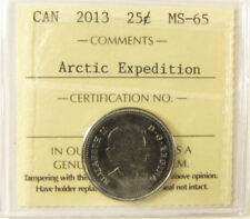 2013 Canada Frosted Explorers  25 cent    grading by ICCS MS-65  coin